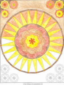 Mandala 9 - Derwent Studio colored pencils