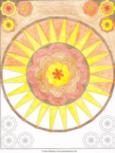 Mandala 9 - Derwent Studio colored pencils